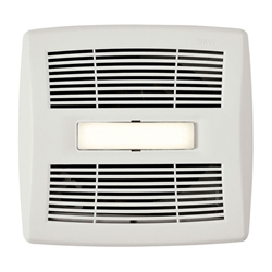 Broan AE110SL Invent™ Series Exhaust Fan with LED Light and Humidity Sensor