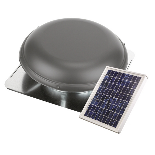 Power Roof Ventilators : Airvent solar powered roof mounted attic vent