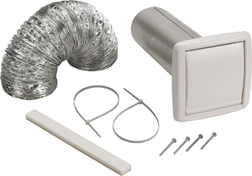 "Nutone WVK2A 4"" Round Duct Wall Ducting Kit for Bathroom Ventilation Fans"